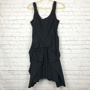 ModCloth Hell Bunny Black Buckle Dress